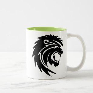 307x307 Lion Silhouette Coffee Amp Travel Mugs Zazzle