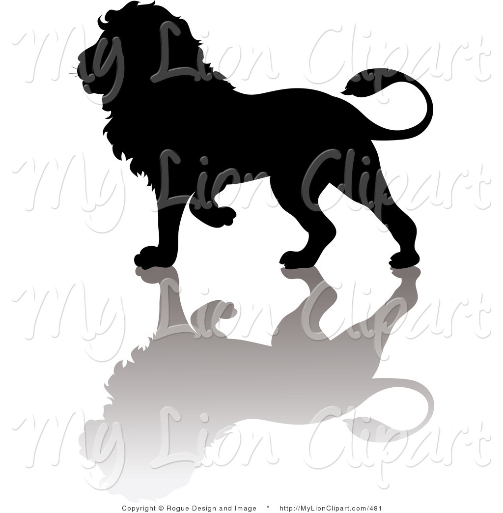 1024x1044 Vector Clipart Of A Lion Silhouette With Shadow By Pams Clipart