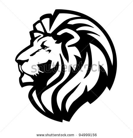 450x470 Smoother Edged Lion Silhouette, Possible Paint Stencil Tattoos