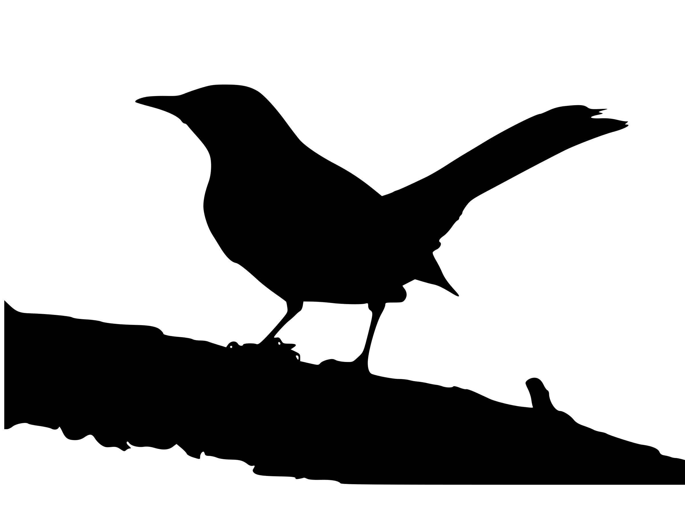2400x1800 Mockingbird In Silhouette Icons Png