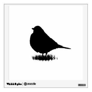 307x307 Robin Bird Silhouette Art Amp Framed Artwork Zazzle
