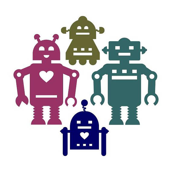 570x570 Robot Pack Cuttable Svg Png Dxf Amp Eps Designs Cameo File