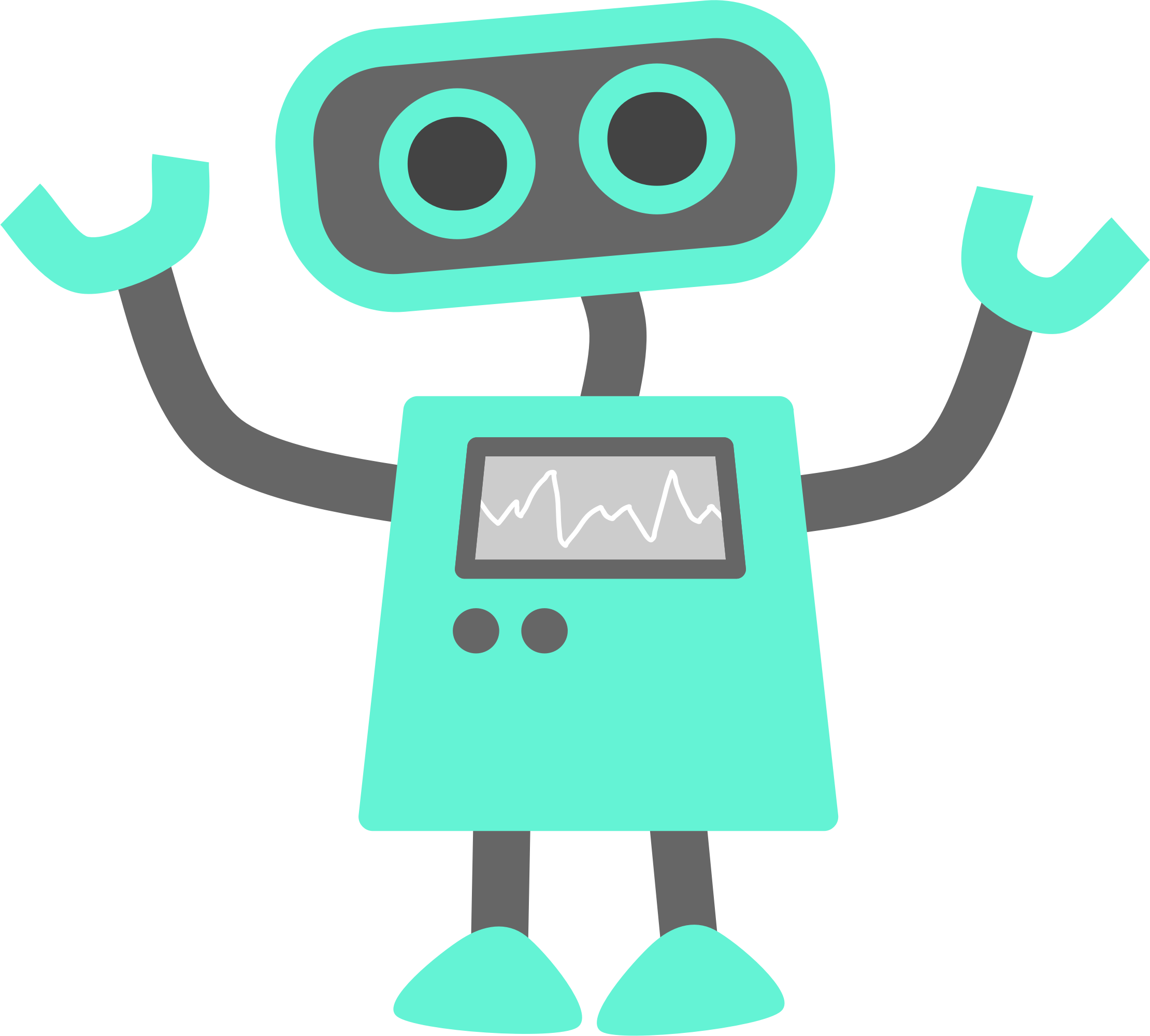 2220x2000 Blue Robot By @scout, A Blue Robot, On @openclipart Pix Ideas