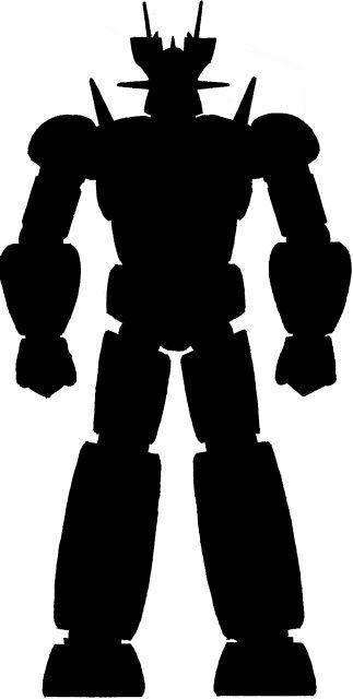 323x640 Robot Head Silhouette