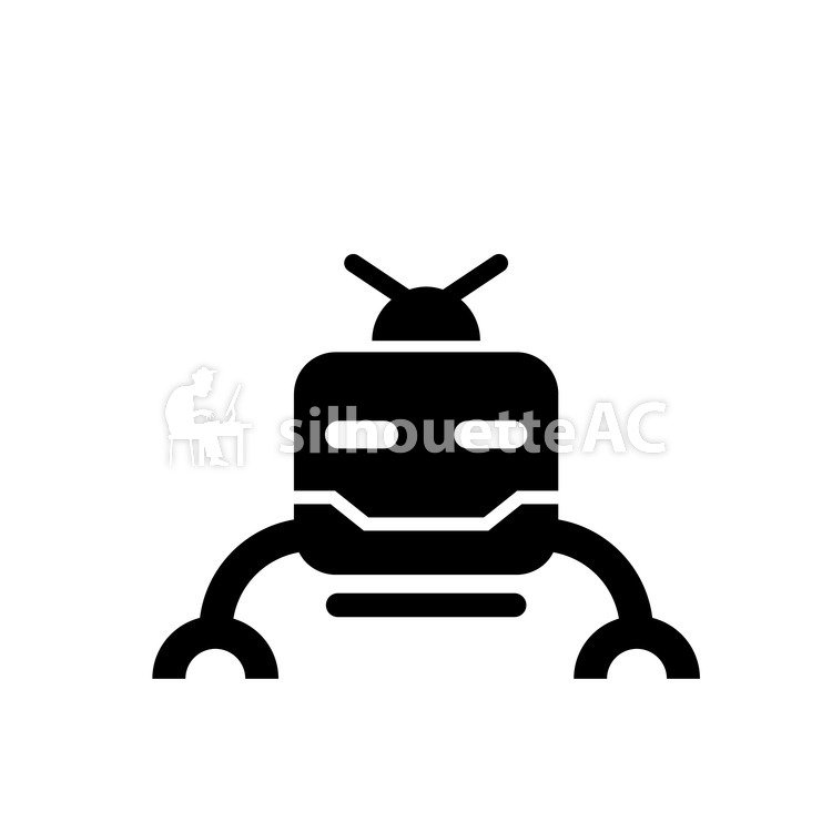 750x750 Free Silhouettes Robot, Toy, Tiny, Item