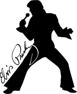 247x300 Elvis The King Rock N Roll Silhouette Vinyl Graphic Wall Art Car
