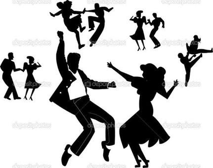 431x341 Rock And Roll Dance Silhouette Pattern