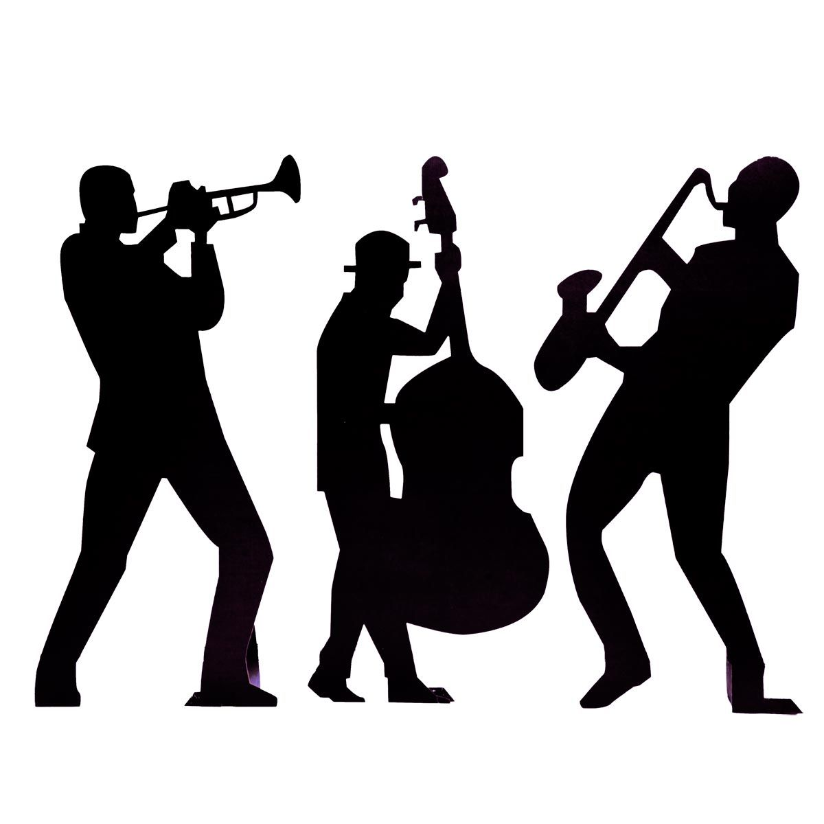 1200x1200 List Of Synonyms And Antonyms Of The Word Jazz Band Silhouette
