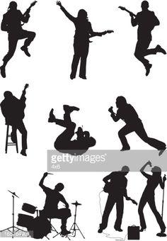 236x340 Rock Band Vocalistas Guitarra Y Tambores Disegni