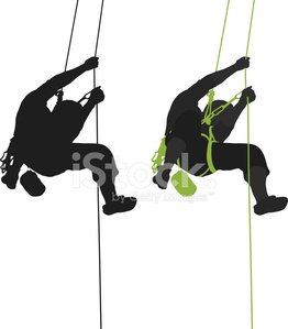 262x299 Rock Climber Hanging Stock Vectors