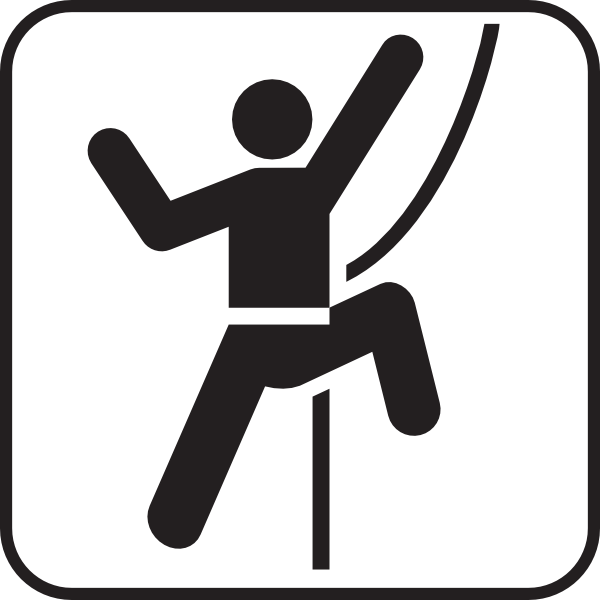 600x600 Rock Climber Silhouette Clipart