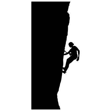425x425 Rock Climbing Wall Decal Sticker 19