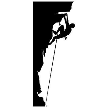 355x355 Rock Climbing Wall Decal Sticker 2