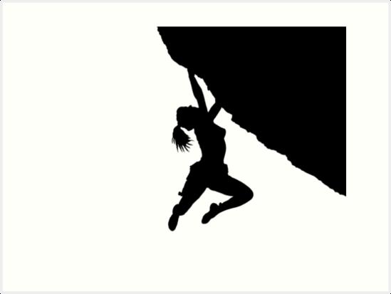 549x413 Girl Bouldering Silhouette Art Prints By Mindgoop Redbubble