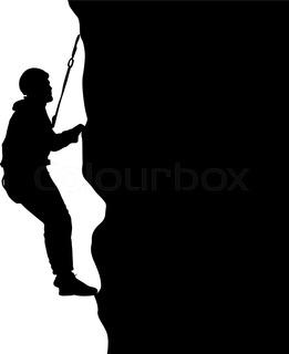 261x320 Rock Climbing Stock Vector Colourbox
