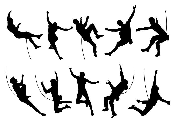 700x490 Silhouette Of Wall Climbers