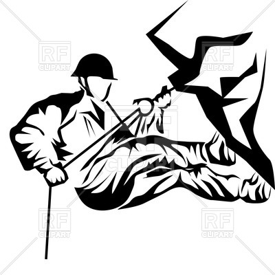 400x400 Silhouette Of Rock Climber Royalty Free Vector Clip Art Image