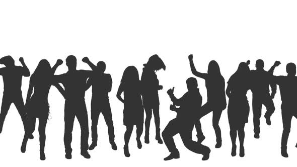 590x332 Dancing Crowd In Silhouettes By Mgpremier Videohive