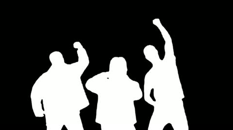 480x268 Rock Crowd Silhouettes 1 ~ Stock Video