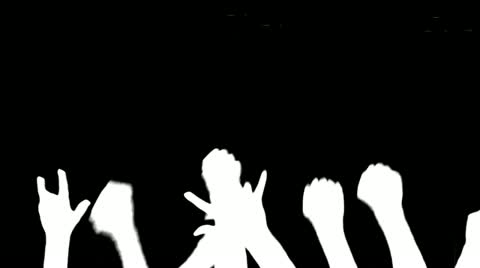480x268 Rock Concert Fist Crowd ~ Hi Res Video