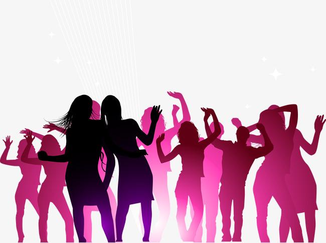 650x484 Concert Poster Vector Dancing Crowd, Concert, Dancing Crowd