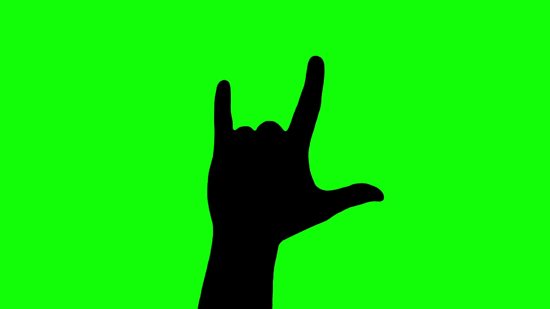 1920x1080 Hand Gesturing Heavy Metal Rock Sign Silhouette Isolated Green
