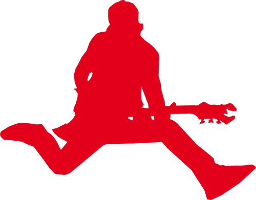 500x391 Silhouette Of Rock Star With Guitar Vector Graphics Public
