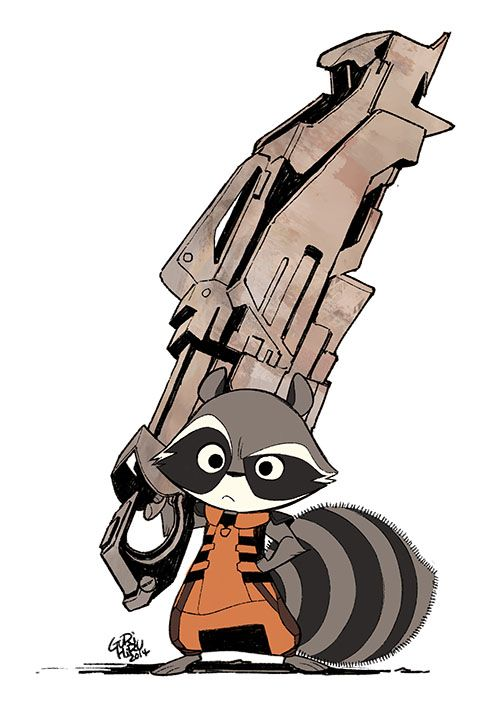 500x710 Gurihiru Rocket Raccoon Geekery Rocket Raccoon