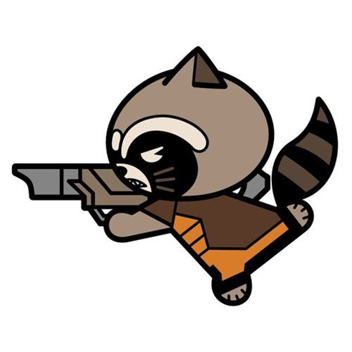 500x500 Guardians Of The Galaxy Vol. 2 Rocket Raccoon Kawaii Magnet
