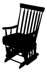 155x235 Rocking Chair Silhouette Premium Clipart