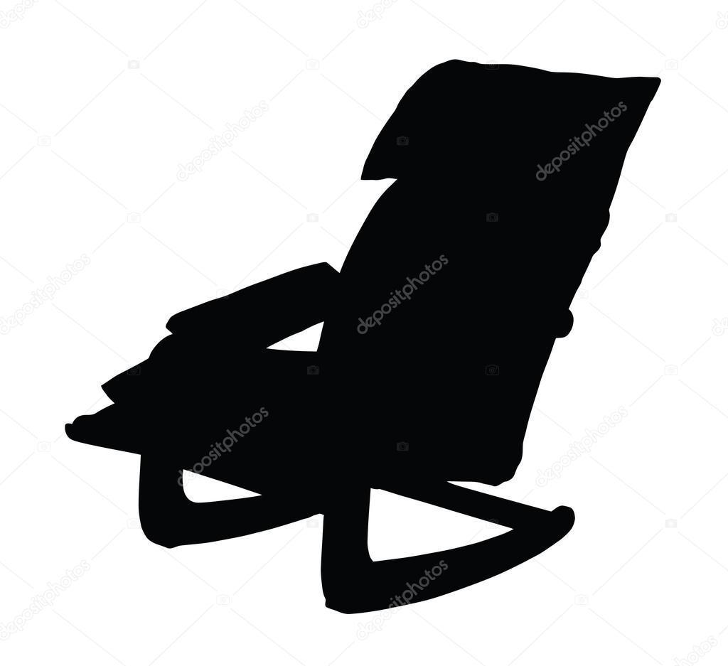 1024x937 Shocking Black White Vector Illustration Rocking Chair Stock