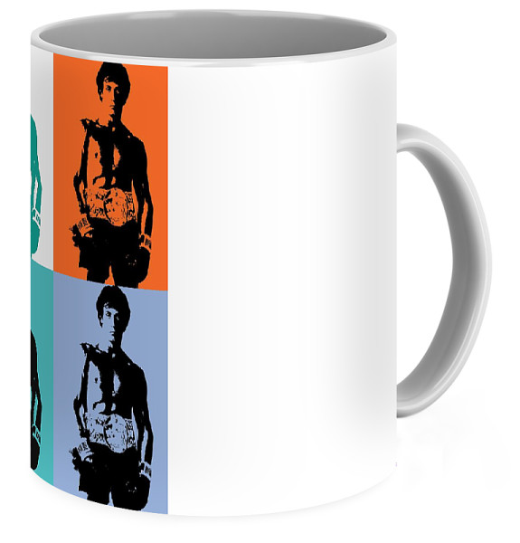 575x600 Rocky Balboa Pop Art Panels Coffee Mug For Sale By Dan Sproul