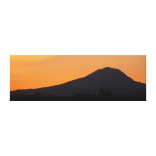 307x307 Mountain Silhouette Wrapped Canvas Prints Zazzle
