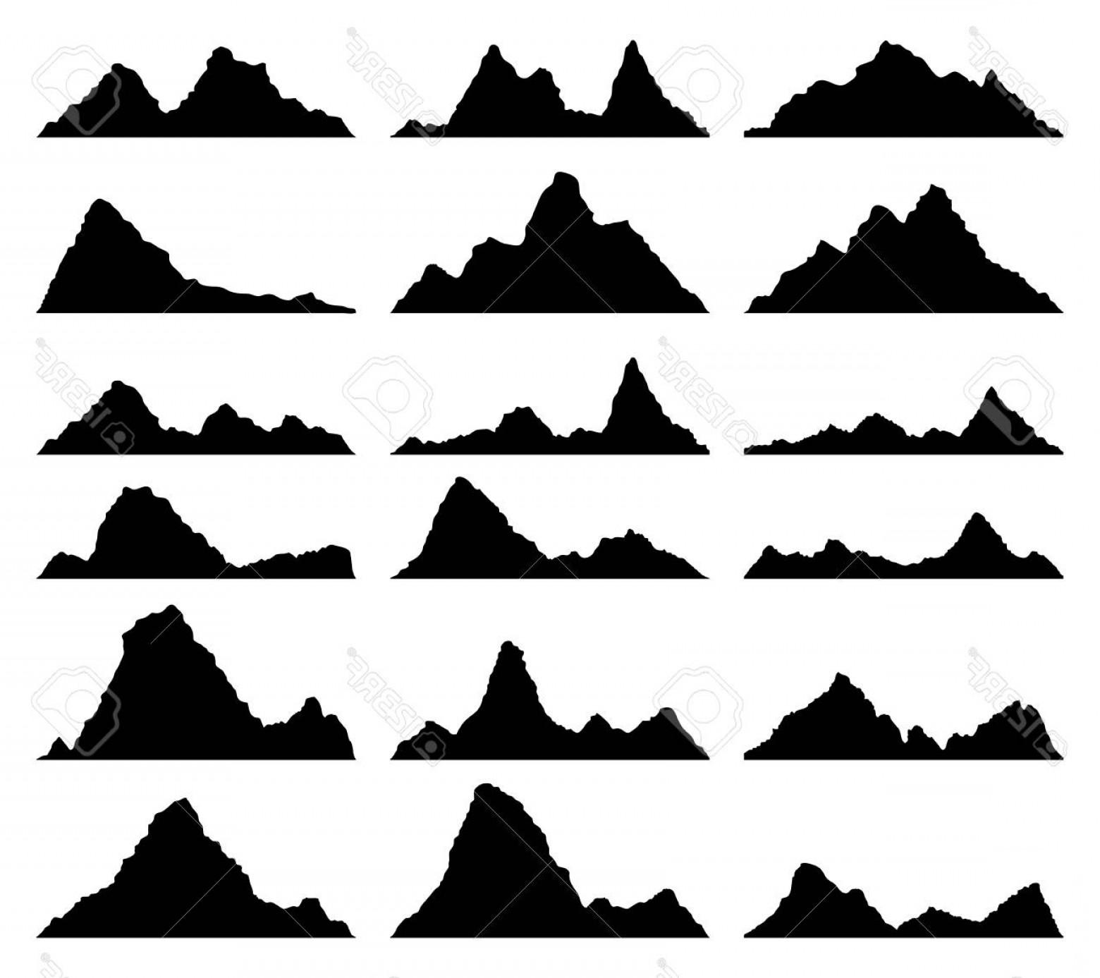 1560x1387 Photostock Vector Vector Set Of Black And White Mountain