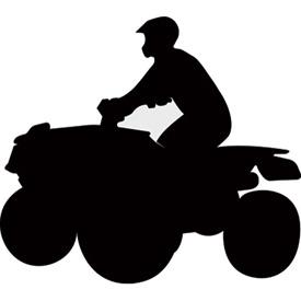 275x275 Attack Graphics Rider Silhouette Decals 4x4 Atv Utv Rocky