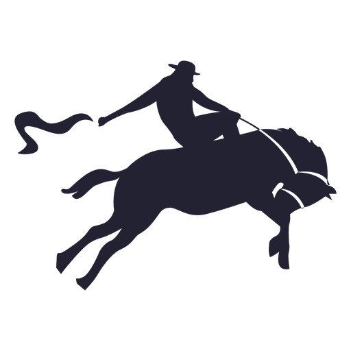 512x512 Rodeo Cowboy Silhouette