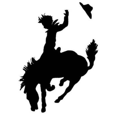 400x400 Rodeo Siloette 2 Cowboywestern Theme Rodeo