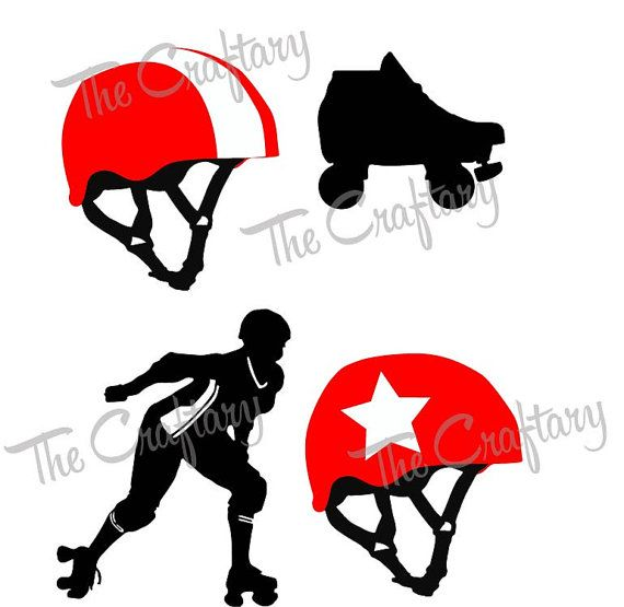 570x555 Roller Derby Collection Svg Files Roller Derby, Svg File And Filing