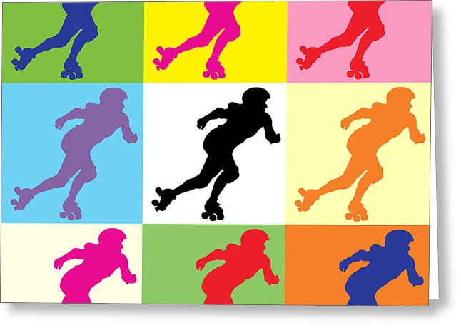 646x470 Roller Derby Greeting Cards Fine Art America
