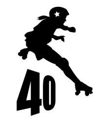 209x260 Derby Over 40 Women's T Shirt Roller Derby Roller