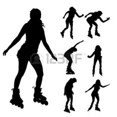 236x236 Roller Derby Silhouettes Roller Derby, Silhouette And Referee