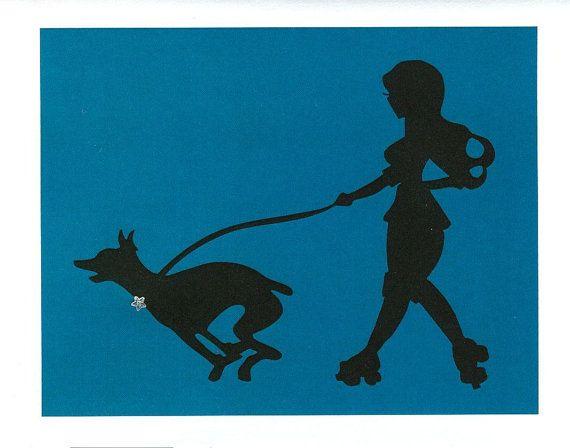 570x448 Doberman And Roller Derby Pin Up Silhouette Blank By Dangersjones