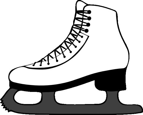 600x483 Vintage Roller Skate Clipart