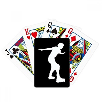 355x355 Black Roller Skating Sport Silhouette Poker Playing