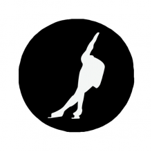 220x220 Black Sport Roller Skating Silhouette Silhouette Wall Sticker Art