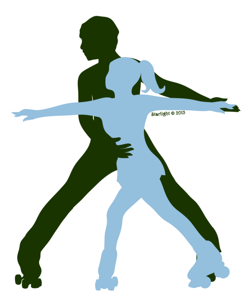 807x989 Roller Skating Pair Silhouette By Starlight Sl