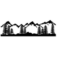 236x236 Mountain View Medium Vinyl Let's Get Crafty Tree