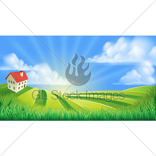 500x500 Rolling Hills Fields Farm Gl Stock Images
