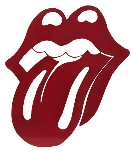 566x640 Iconic Rolling Stones Tongue Metal Wall Hanging