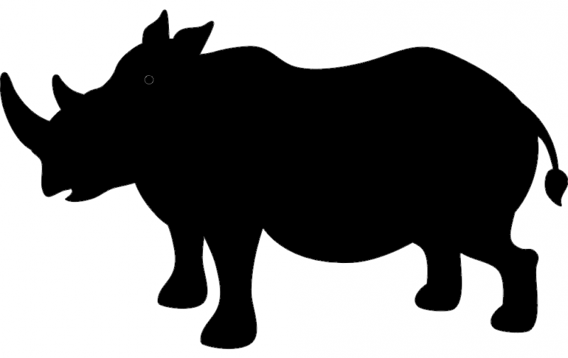 800x505 Rhino Silhouette Dxf File Free Download